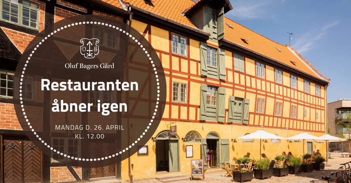 Restaurant Oluf Bagers Gård i Odense genåbner 26. april