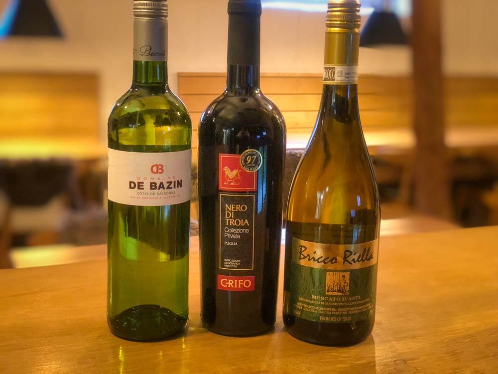 Vælg vine til takeaway