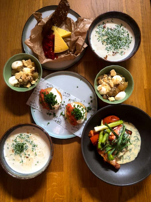 5-retters takeaway fra restaurant Oluf Bagers Gård i Odense