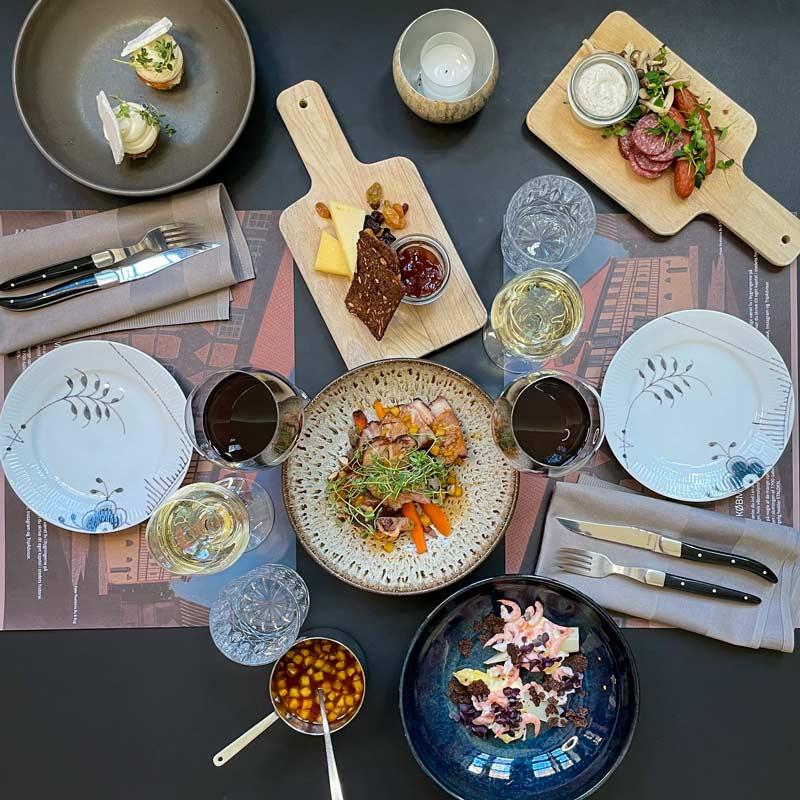 5-retters takeaway-menu fra Oluf Bagers Gård i Odense