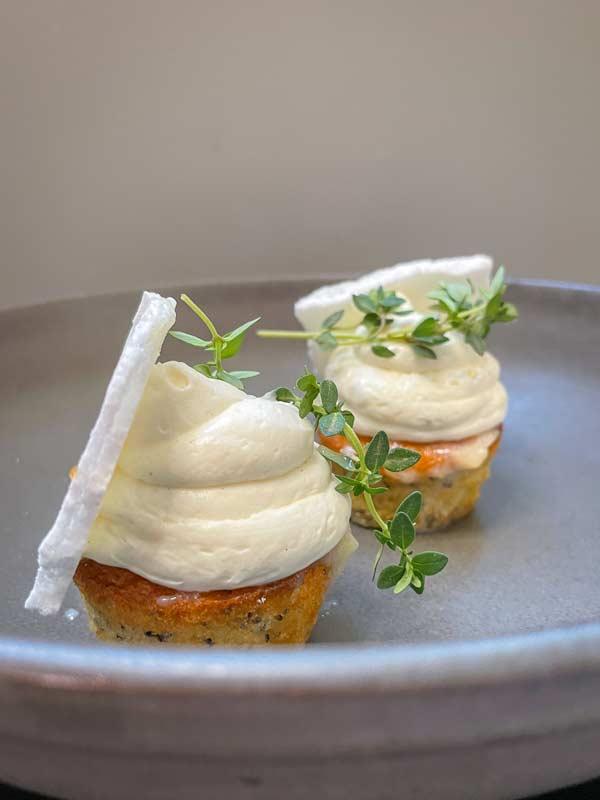 Dessert til 5-retters takeaway-menu i Odense