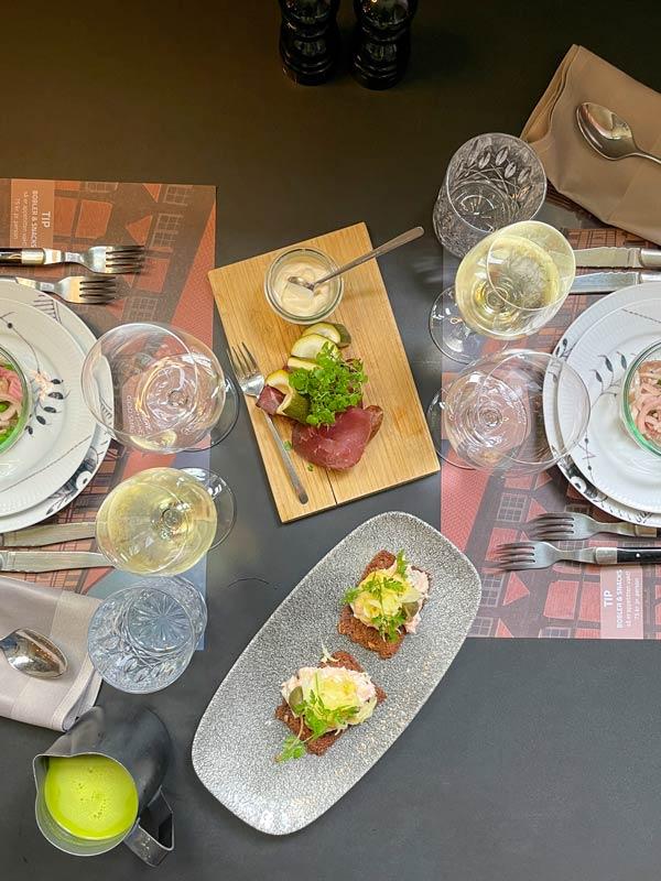 3 forretter - 9-retters menu i Odense