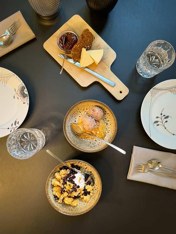 Ost og desserter i vores 9-retters menu |Odense