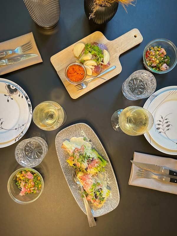 Forretterne i vores 9-retters menu |Odense