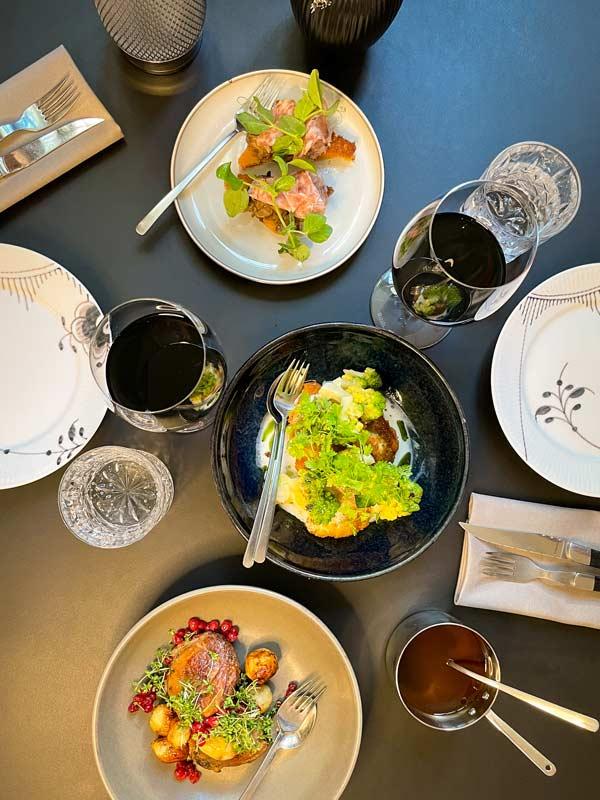 De tre hovedretter i vores 9-retters menu |Odense